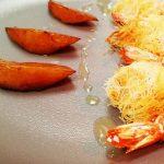 Crevettes Sauvages en Kadaïf, Melon Rôti