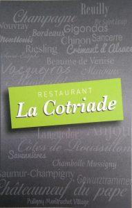 Restaurant La Cotriade St-Gilles-croix-de-Vie