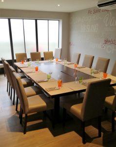 Exemple de table pour un repas.
